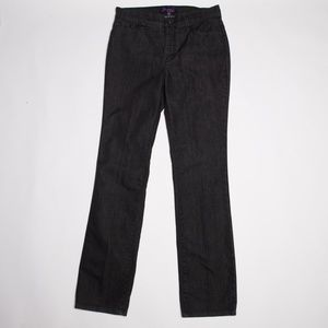NYDJ Straight Cut black jeans